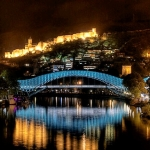 bridge of freedom and Narikala fortress - tbilisi